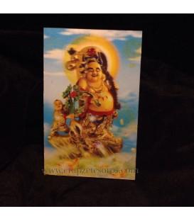 Holograma del Buda de la fortuna y felicidad
