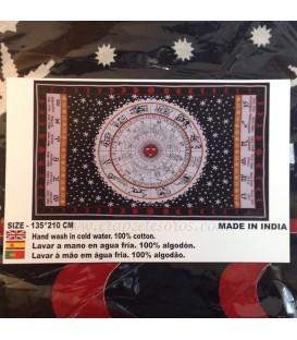Tapiz de algodón con Zodíaco