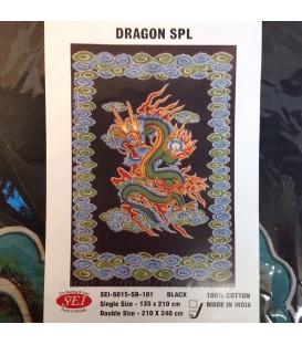 Tapiz de algodón con dragón
