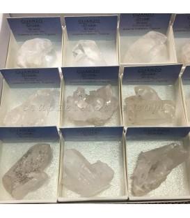 Cuarzo Cristal de Roca drusa en cajita de coleccion