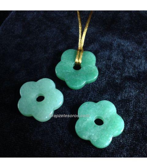 Colgante flor Agata verde
