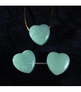 Colgante corazon Aventurina verde