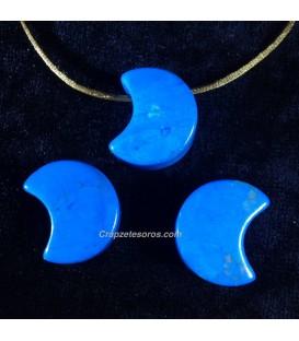 Colgante luna Howlita azul