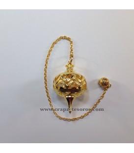 Péndulo de metal dorado hueco para Radiestesia