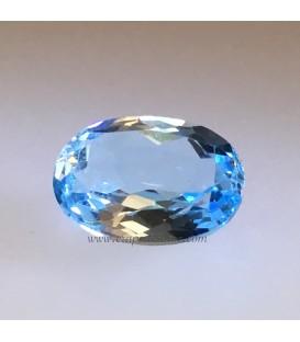 Aguamarina de Brasil de intenso azul facetada calidad gema de 7,95 quilates