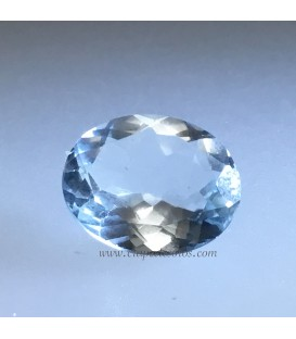 Aguamarina de Pakistán facetada calidad gema de 2,9 quilates