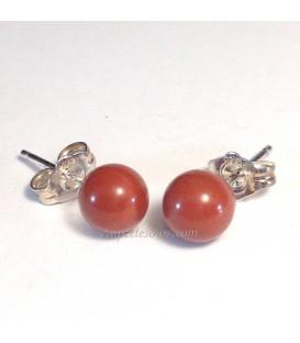 Pendientes de Jaspe rojo y plata
