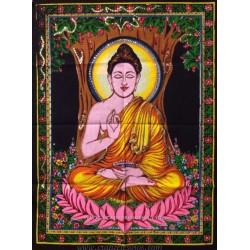Tapiz de Buda meditación en algodón 100x100