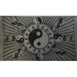 Tapiz del Yin Yang estampado en algodón 100x100