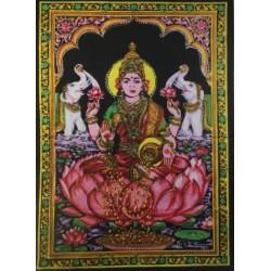 Laxmi estampada sobre tapiz de algodón de 110 x75 cm