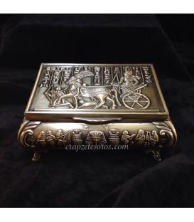Caja joyero egipcio de metal