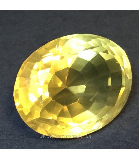 Exuberante Cuarzo Citrino gema de Brasil con 58 quilates
