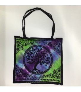 Bolso - bolsa de algodon con Árbol de la vida
