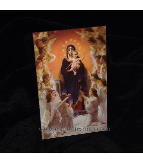 Halografía de coro de ángeles con Jesús y María