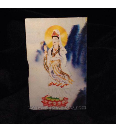 Halografía de Kuan Yin diosa de amor y perdón