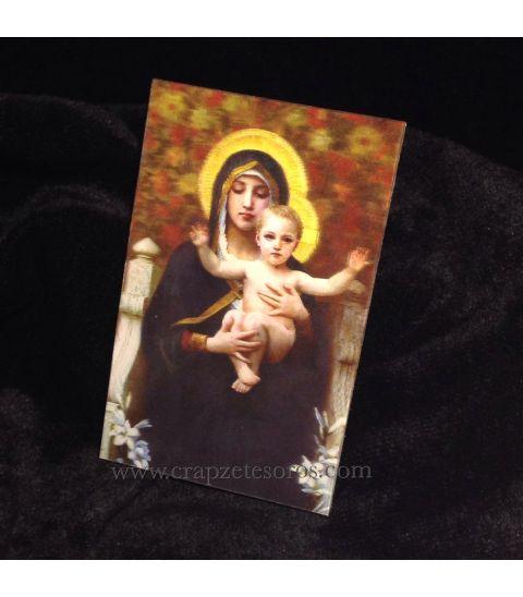 Halografía de coro de ángeles con María y Jesús