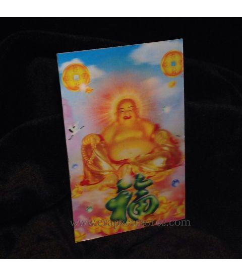Halografía del Buda de la fortuna y felicidad