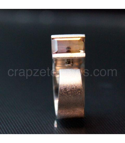 Ametrino en original anillo de plata de ley