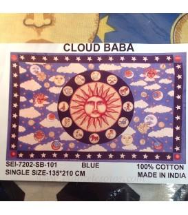 Zodíaco con cielo azul en tapiz 135x210 cm