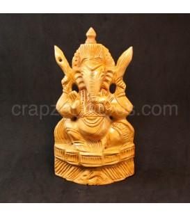 Talla de Ganesha en madera