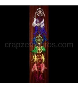 Cazasueños chakras compuesto de siete piezas.