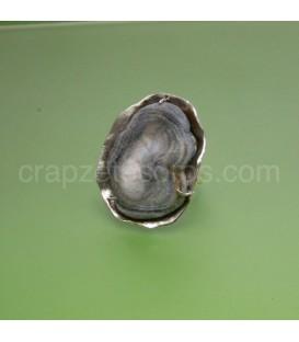 Original Calcedonia flor en anillo de plata de ley
