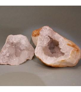 Geoda de Cuarzo con sus dos mitades complementarias