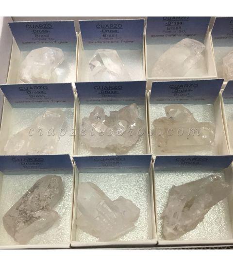 Cristal de roca drusa