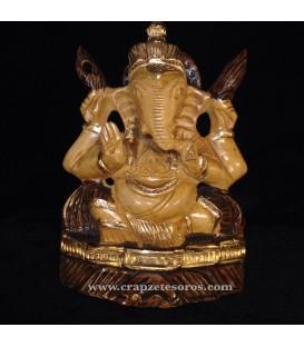 Ganesha en madera 14 cm.