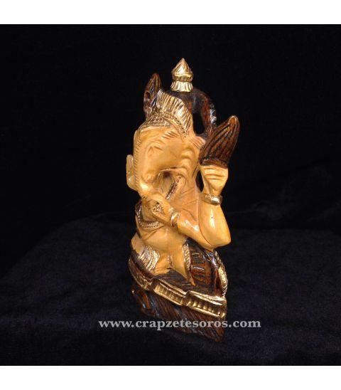 Ganesha en madera