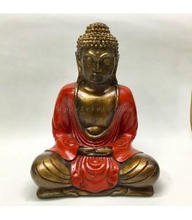 Buda meditación de Indonesia en cuerpo de resina