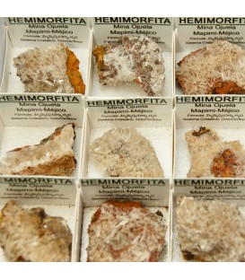 Hemimorfitas cristal de Méxixo en cajita de colección.