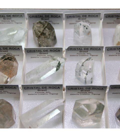 Cuarzo Cristal de roca drusa en 4x4