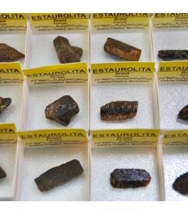Estauroliíta de Madagascar en cajíta de colección