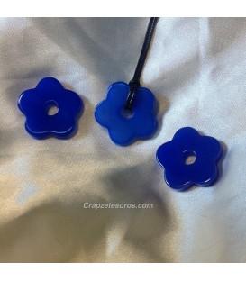 Colgante flor Agata azul