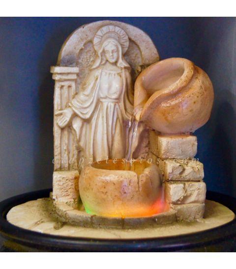 Virgen milagrosa en fuente de agua resina luces y motor - Motor de fuente de agua ...