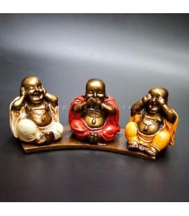 Budas sabios de la fortuna en resina de Indonesia