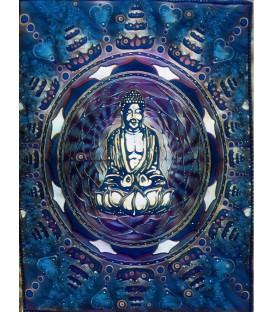 Tapiz de algodón con Buda dentro de mandala.