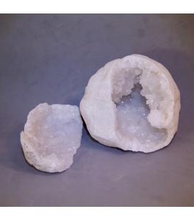 Geoda doble de cuarzo de Marruecos