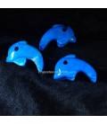Howlita Azul en colgante talla delfin