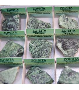 Zoisita de Tanzania en cajita de coleccion