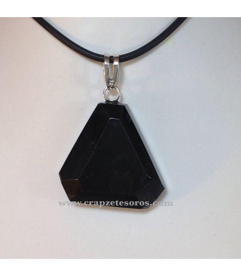 Colgante de plata con triángulo truncado de Ónix