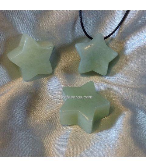 Colgante estrella Jade claro