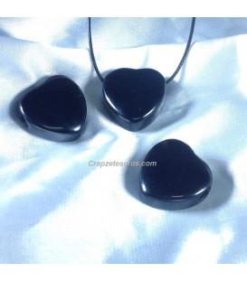 Onix corazon en colgante con agujero