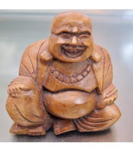 Buda Hotei tallado en madera de la India