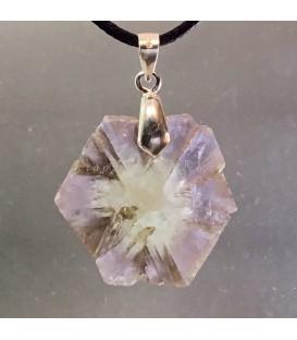 Aragonito cristal de Cuenca en colgante de plata de ley