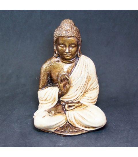 Buda de resina blanco de Indonesia