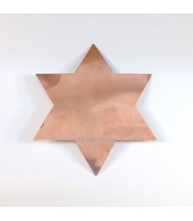 Estrella de David elaborada en Cobre.