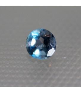 Turmalina azul o Indigolita talla brillante