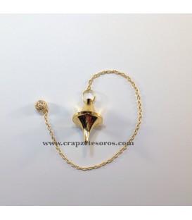 Péndulo de metal dorado para Radiestesia